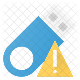 Alert in pendrive Icon