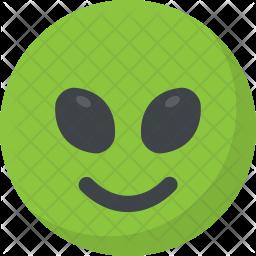 Alien Emoticon Icon