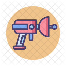 Alien Weapon Colored Outline Icon