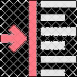 Align Left Line Icon