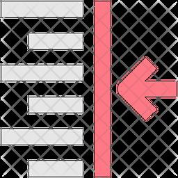 Align Right Line Icon