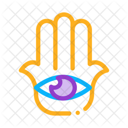 All Seeing Colored Outline Icon