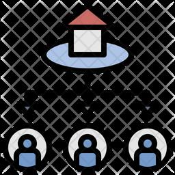Allocation Colored Outline Icon