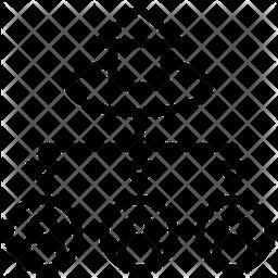 Allocation Line Icon