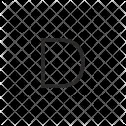 Alphabet Glyph Icon