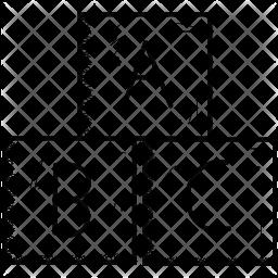 Alphabet block Doodle Icon