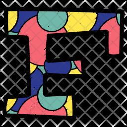 Alphabet Letter F Icon
