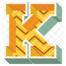 Alphabet Letter K Icon