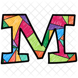 Alphabet Letter M Icon Of Colored Outline Style Available In Svg Png Eps Ai Icon Fonts