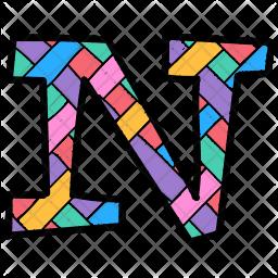 Alphabet Letter N Icon