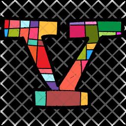 Alphabet Letter V Icon