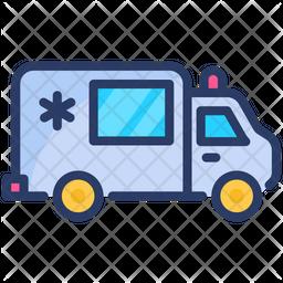 Ambulance Icon Outline Style Ambulance Icon