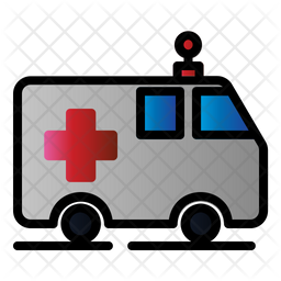 Ambulance Colored Outline Icon