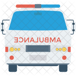 Ambulance Flat Icon