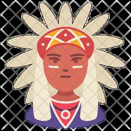 American Indian Flat Icon