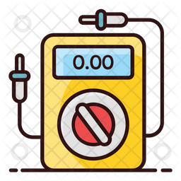 Ammeter Colored Outline Icon