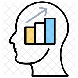 Analytical Thinking Colored Outline Icon