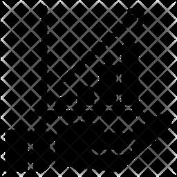 Analytics Chart Glyph Icon