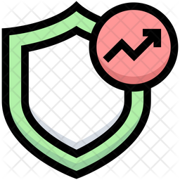 Analytics Protection Colored Outline Icon