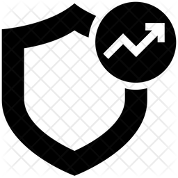 Analytics Protection Glyph Icon