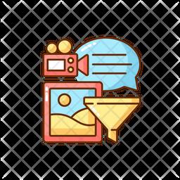 Analyzing information Icon