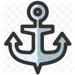 Anchor Colored Outline Icon