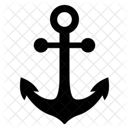 Anchor Glyph Icon