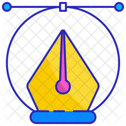 Anchor Point Colored Outline Icon