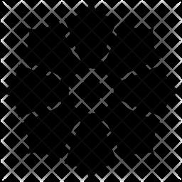 Anemone Glyph Icon