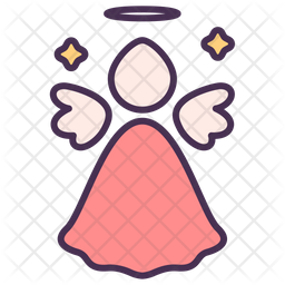 Angel Colored Outline Icon