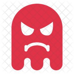 Angry Flat  Emoji Icon