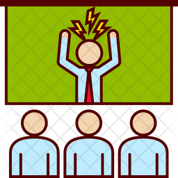 Angry boss meeting Icon