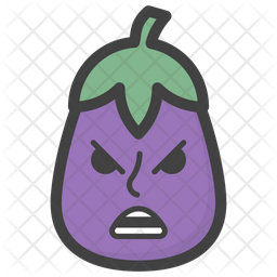 Angry Brinjal Emoji Icon
