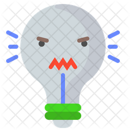 Angry bulb Icon