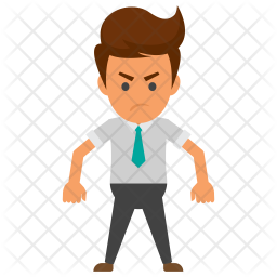 Angry Businessman Icon