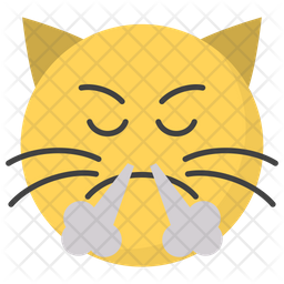 Angry Cat Face Emoji Icon