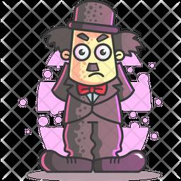 Angry Charlie Chaplin Icon