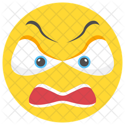 Angry Face Emoji Icon Of Flat Style Available In Svg Png Eps Ai