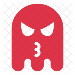 Angry ghost Flat  Emoji Icon