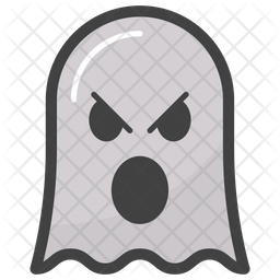 Angry Ghost Face Emoji Icon