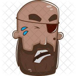 Angry Pirate Icon