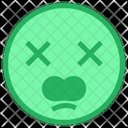 Anguished Face Emoji Icon
