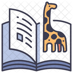 Animal Book Colored Outline Icon