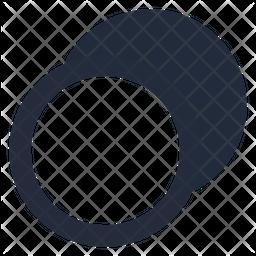 Animation motion diagonal down left Dualtone Icon