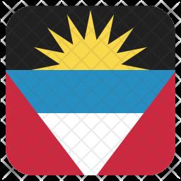 Antigua Flat  Flag Icon