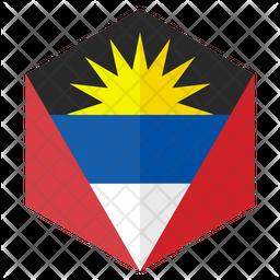 Antigua And Barbuda Flat  Flag Icon