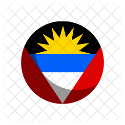 Antigua And Barbuda Rounded  Flag Icon