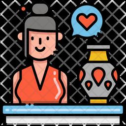 Antiquarian Woman Icon