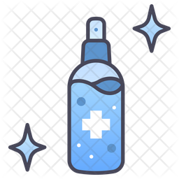 Antiseptic gel Colored Outline Icon