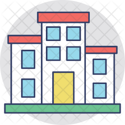 Apartments Colored Outline Icon